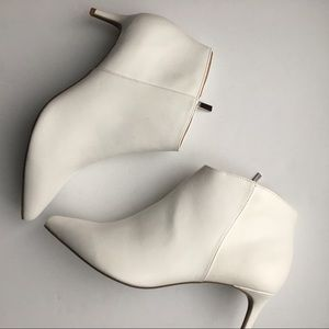 A New Day Dominique Kitten Heel Booties White New